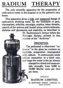 Advertisement for adium emanation activator, 1913. Wikipedia.