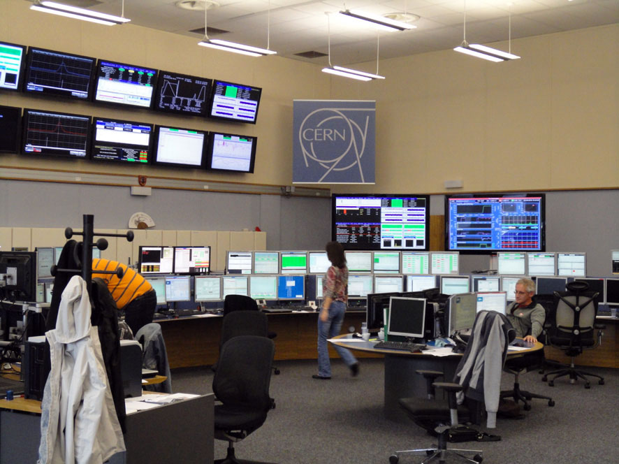 Figur 6: ATLAS control center (Foto JFE).