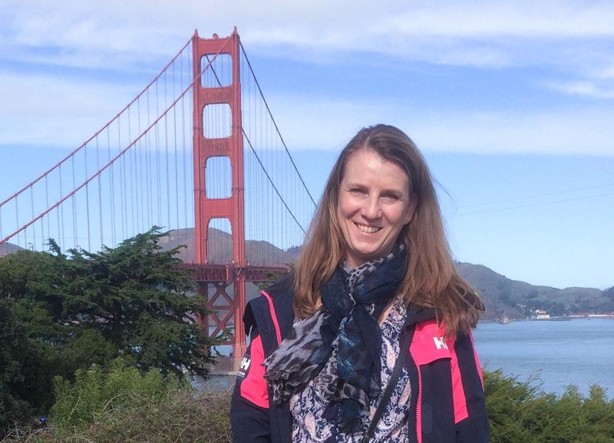 Før hjemreise ble det tid til litt sightseeing. Kom meg halvveis over Golden Gate Bridge.