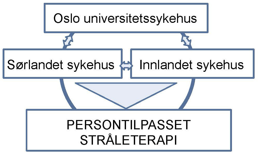 Figur 1. Helse Sør-Øst forskningsnettverk i stråleterapi