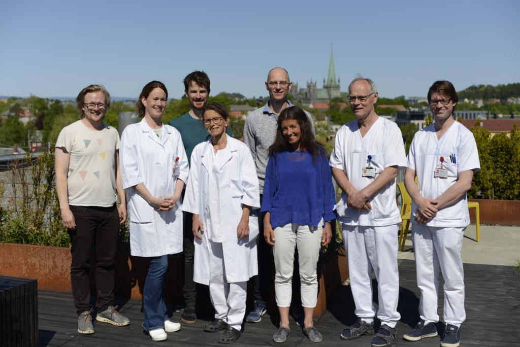 På bildet (fra venstre): Stein-Martin Tilrum Fagerland, Margrete Haram, Ola Finneng Myhre, EvaHofsli, Rune Hansen, Catharina de Lange Davies, Steinar Lundgren, Åsmund Flobak