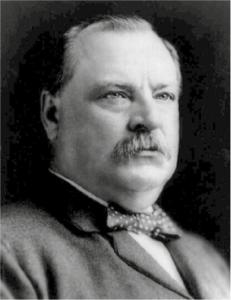 Figur 2: Stephen Grover Cleveland (1837 - 1908), USAs 22. og 24. president (Wikipedia)