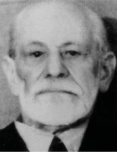 Figur 6: Passfoto av Freud 1938. Merk defekten i høyre kinn etter maxillectomi (3).